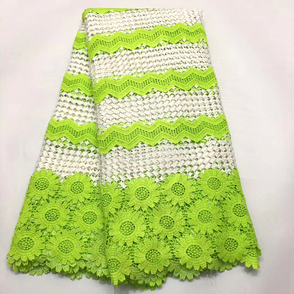 White+Green latest Beautiful Guipure lace fabric 2019 high quality African cord lace with stones Nigerian lace fabricsWhite+Green latest Beautiful Guipure lace fabric 2019 high quality African cord lace with stones Nigerian lace fabrics