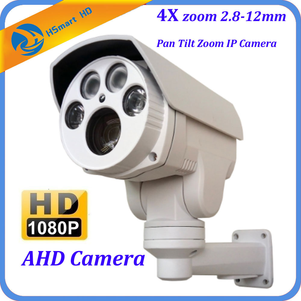 CCTV 1080P AHD 2.0M HD Mini Outdoor IR Bullet PTZ Camera 4x zoom IP66 Waterproof 2.8-12mm Night vision IR 60M For AHD DVR System ccdcam 4in1 ahd cvi tvi cvbs 2mp bullet cctv ptz camera 1080p 4x 10x optical zoom outdoor weatherproof night vision ir 30m