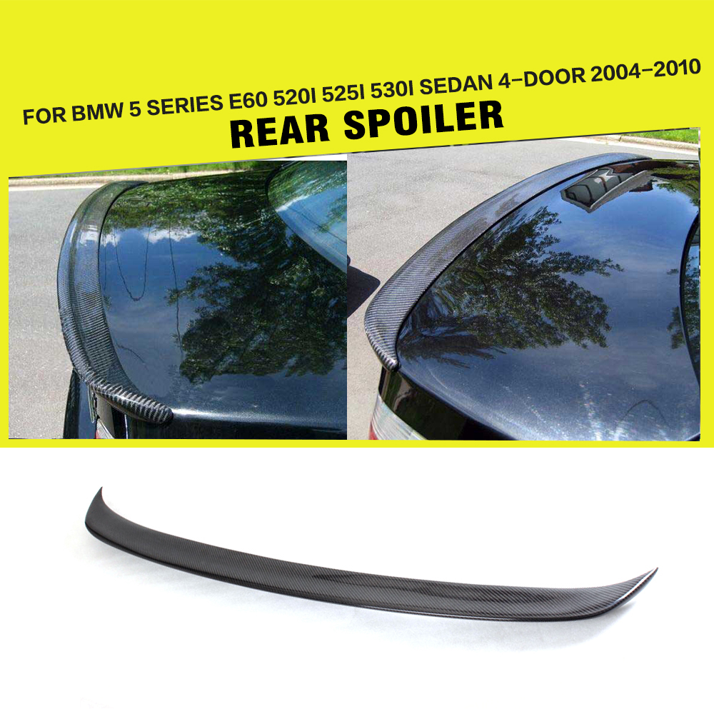 Car-styling Carbon Fiber Auto Rear Lip Wing Spoiler for BMW E60 530i 535i 550i M5 Sedan 4-Door 2004 - 2010 car styling carbon fiber auto rear wing spoiler lip for vw scirocco 2010 2012