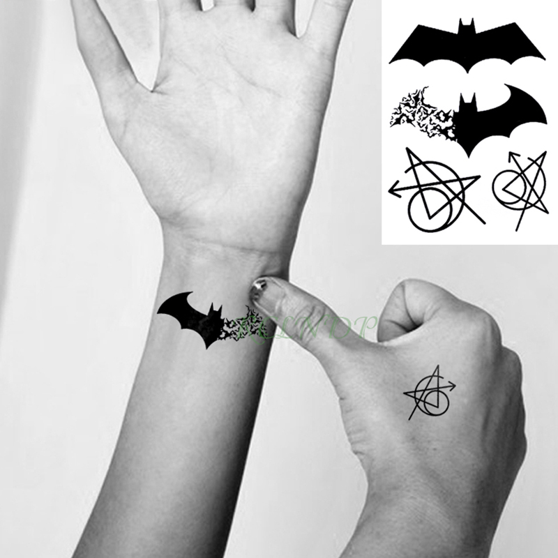 9316f3b35 Waterproof Temporary Tattoo Sticker Batman The Avengers Tatto Flash ...