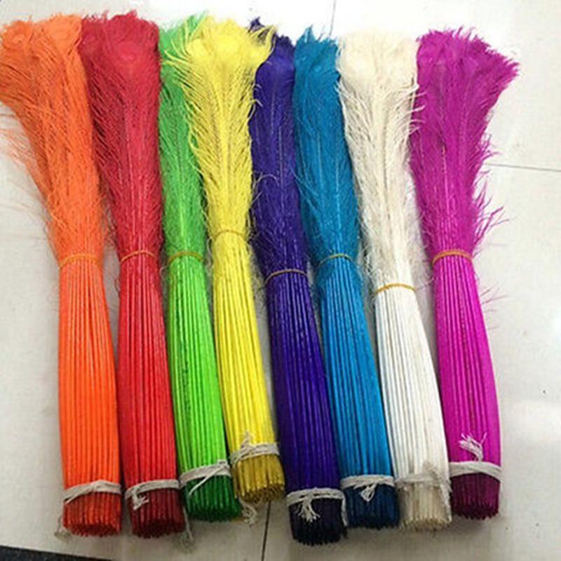En gros 100 pcs de Plume de Paon yeux 32-34 pouces/80-90 cm couleur en option