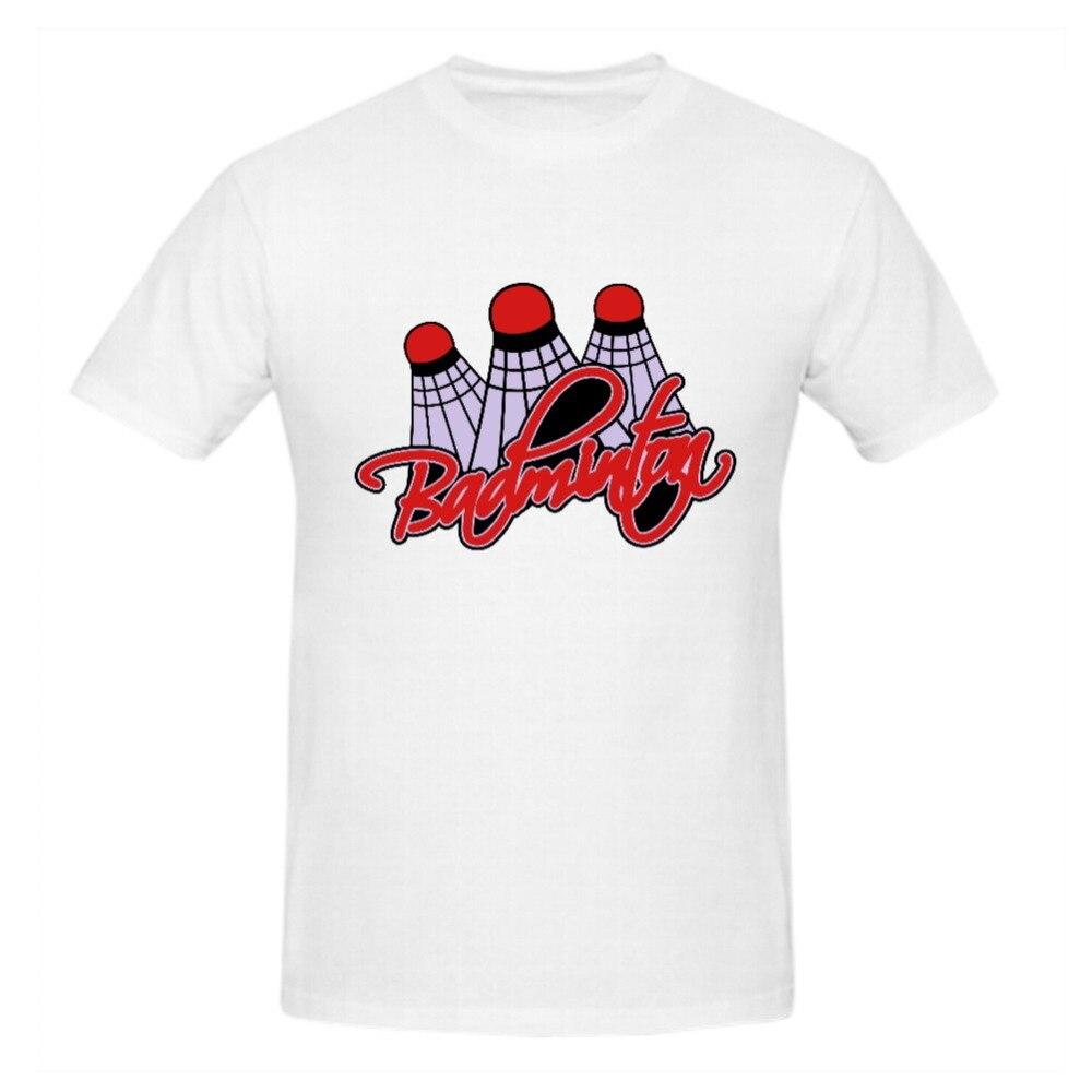 Desain t shirt unik - Logo Unik Man T Kemeja Katun Organik Badmintons Rttmall Termurah Champion Lengan Pendek Pertempuran Dicetak Besar