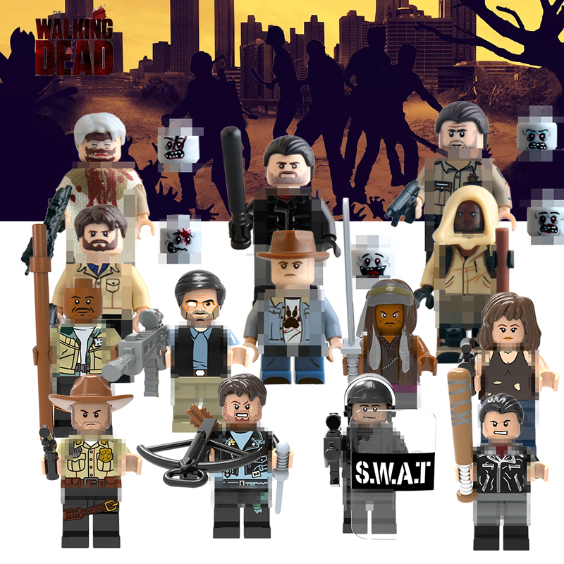 Single The Walking Dead Building Blocks Toys Carl Daryl Rick Negan Michonne Daryl Dixon Maggie Green Super Hero Kids Toys Figure building blocks the walking dead figures rick negan carl daryl star wars super heroes set assemble bricks kids diy toys hobbies