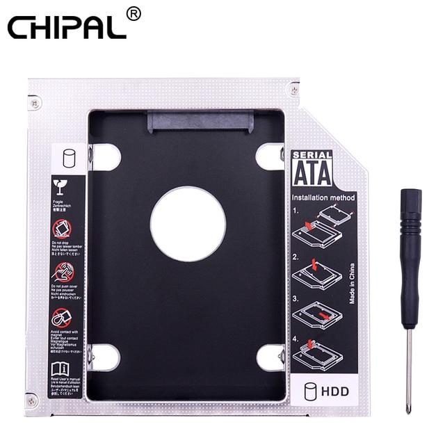 """Carcasa de disco duro de 12,7mm 2,5 """"SATA 3,0 SSD para CHIPAL aluminio IDE a SATA 2 nd HDD portátil CD DVD ROM Bahía óptica"""