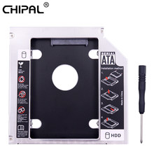 "CHIPAL Aluminium IDE naar SATA 2nd HDD Caddy 12.7mm 2.5 ""SATA 3.0 SSD Hard Drive Case Behuizing voor laptop CD DVD ROM Optische Bay(China)"