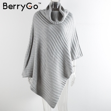 knitting poncho irregular pullover streetwear Winter