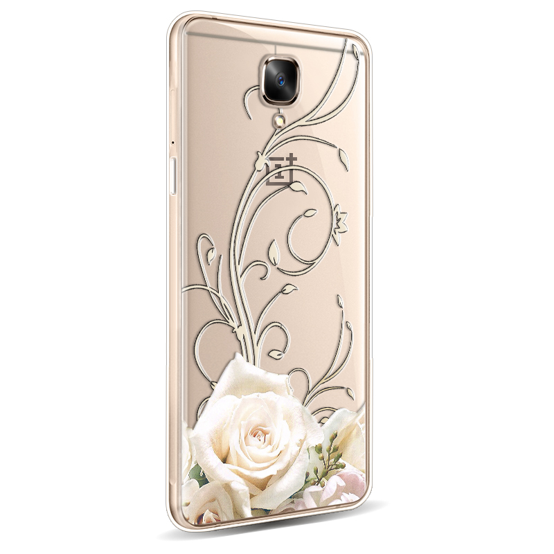 OnePlus 3 Case Luxury 3D Stereo Relief Cartoon silicon back cover For One Plus 3 OnePlus Three case cover 5.5 inch.