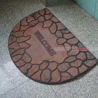 Fashion vintage thickening solid color entry door rubber doormat slip resistant mats foot rub carpet