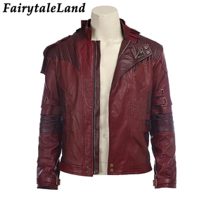 Image 2 - Star Lord Jacket short jacket cosplay Halloween Gloves Guardians of the Galaxy 2 Belt Star Lord cosplay Pants leather jacket
