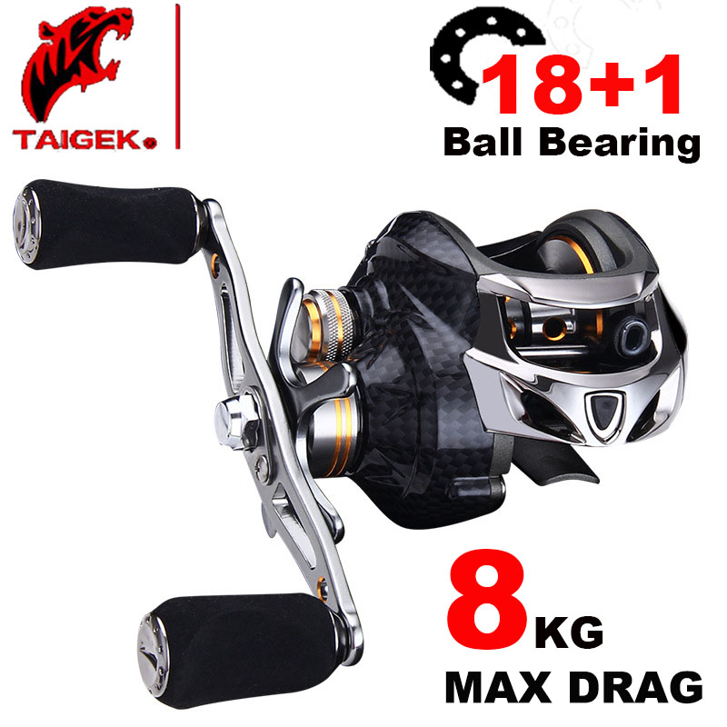 Taigek Brand 18 1 BB Fishing Reel Carbon Shell Super Lightweight Baitcasting reel Baitcasting Reel Carp