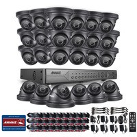 ANNKE 24CH 720P HDD AHD DVR Outdoor IR Day Night CCTV Security Camera System