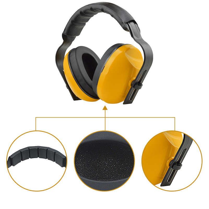 Study Sleep Noise Cancelling Ear Protector Noise Reduction Headphones  Shooting Earplugs Adjustable Hearing Protection Earmuffs