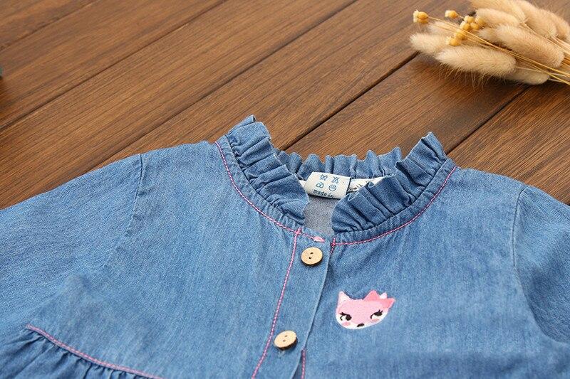 Baby Girl Dress Uzun Qoll Uşaqlar Donim Don Yeni Bahar Payız - Uşaq geyimləri - Fotoqrafiya 2