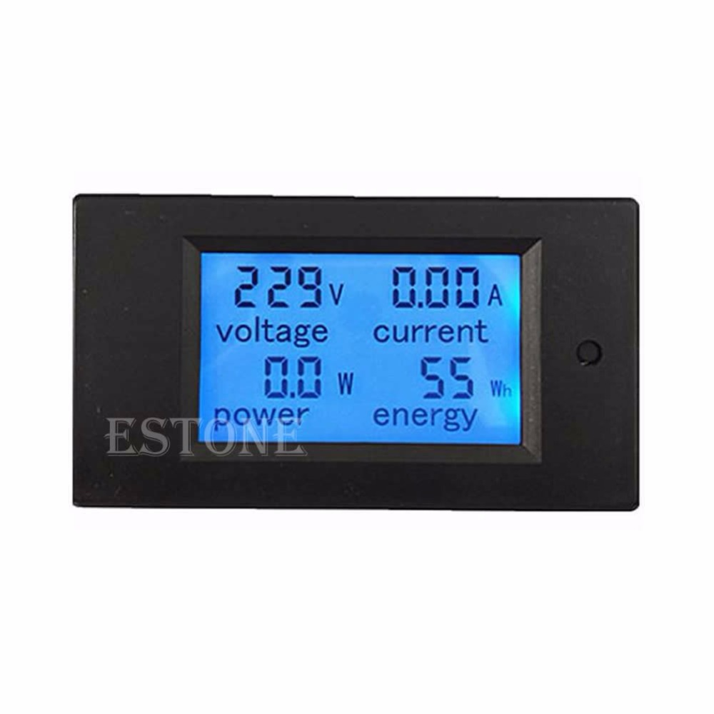 LCD Digital Wattmeter Volt Watt Power Ammeter Voltmeter AC 80-260V 20A Trajectory Tester Tools