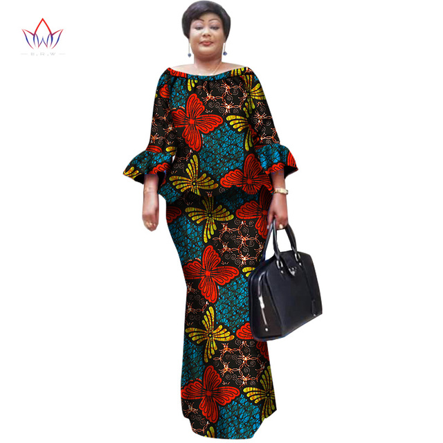 African Wax Print Skirt Sets for Women Bazin Riche Plus Size Traditional African  Clothing Dashiki Two Piece Skirt Set WY1098 d2d9152cd403