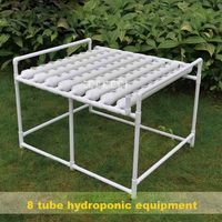 H8001 Portable Horizontal Eight pipe Soilless Cultivation Planting Equipment Set Balcony Hydroponic Vegetable Planting Shelf 3MM