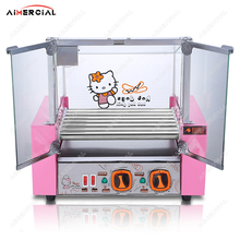 купить HK007 Electric Hot Dog Grill Stainless Steel Ham Sausage Hot Dog Roller Steamer Boiler Cooking Machine with Cartoon Style дешево