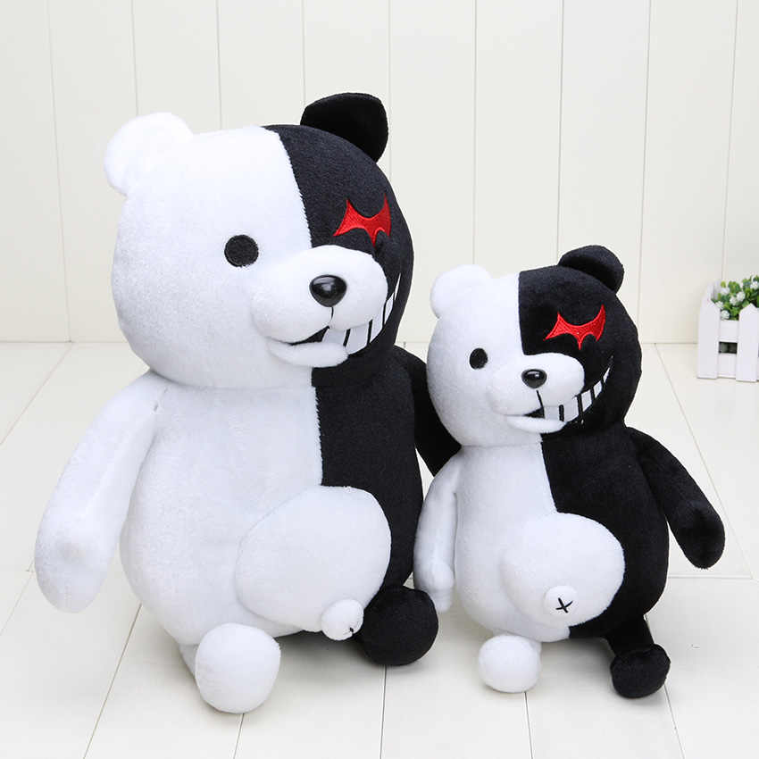 2 Super Danganronpa Dangan Ronpa Monokuma Black & White Bear Plush Soft Toy Stuffed Animal Dolls Presente de Natal