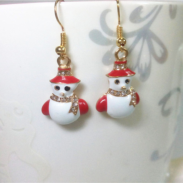 Us 2 15 17 Off Aliexpress Snowman Earrings For Women Christmas Gifts Drop Earring Festival Fashion Jewelry From Reliable