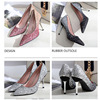 Sexy Gradient Color Shoes 9.5 Cm Thin High Heel Wedding Comfor Ladies Elegant Female Fashion Party Shoes 2