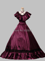 Southern Belle Edwardian Victorian Satin Ball Gown Dress Victorian Dress Stage Dresses