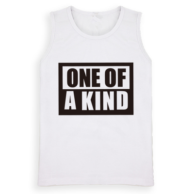 G-Dragon ONE OF A KIND Shirt Funny Vest Casual Boys Girls Tee Shirts Sleeveless G-Dragon K-pop T-shirt Children Vest Brand DC890