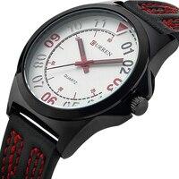 CURREN Yeni Tasarım erkek Saatler Basit Stil Erkek Kuvars Casual Saatı Su Geçirmez Saat Silikon Siyah Kırmızı Moda Izle