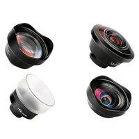PHOLES 4 в 1 объектив камеры мобильного телефона комплект широкоугольный телеобъектив Макро Рыбий глаз линзы для телефона Xs Max X 8 P20 Pro