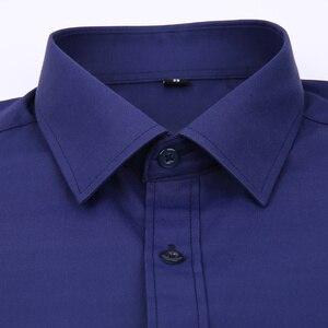 Image 3 - בתוספת גודל גדול 8XL 7XL 6XL 5XL Mens עסקים מקרית ארוך שרוולים חולצה קלאסי לבן שחור כהה כחול זכר חברתי שמלת חולצות