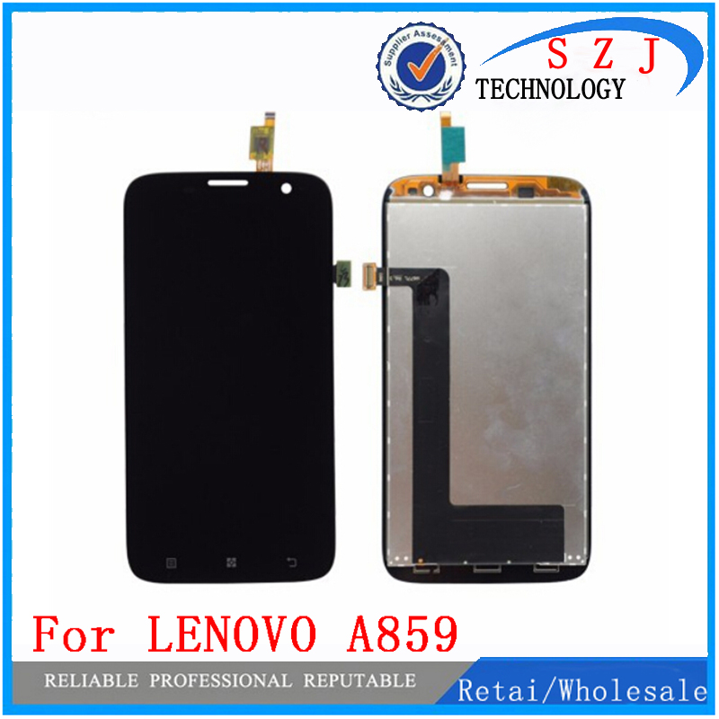 New case Replacement LCD Display Screen With Touch Digitizer Assembly For Lenovo A859 Free shipping for zte n9132 prestige td lte lcd display with touch screen digitizer assembly replacement tracking number free shipping