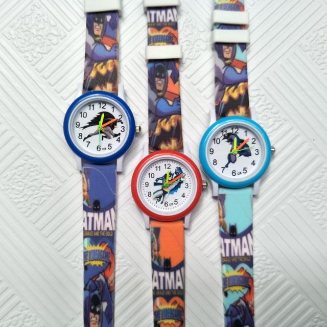 Cartoon Batman Hero Acrylic Quartz Children Watch Kids Boys Girls Casual Fashion
