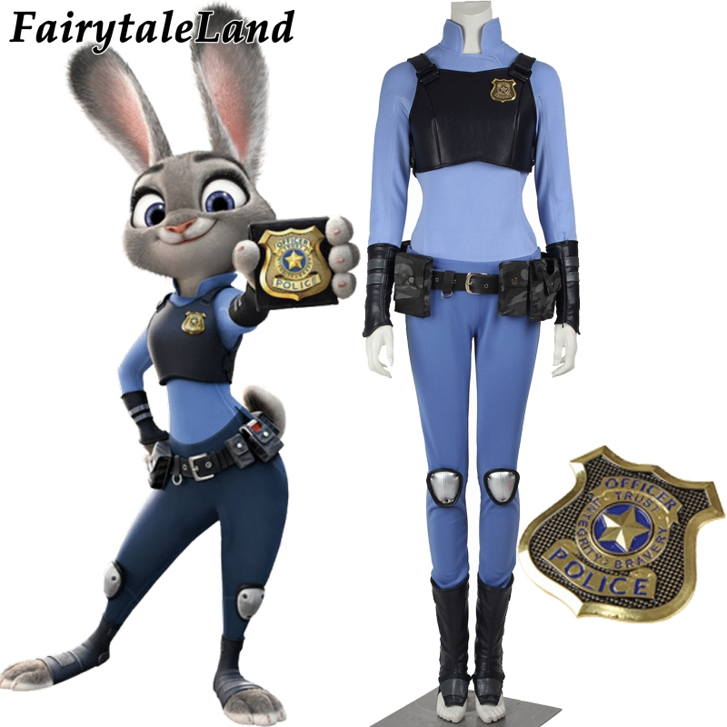 2017 newest cartoon Halloween costume for adult  Zootopia Cosplay costume Zootopia Judy Hopps cosplay costume custom made