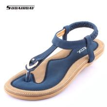 New 2016 Women Summer Style Flat Shoes Women Flat Heel Comfortable Soft Bottom Sandals Women Sweet Flip Flops Size 35-41