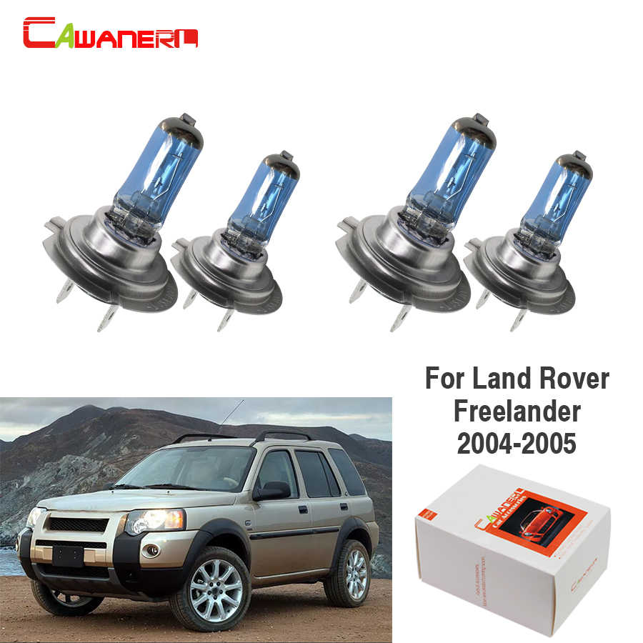 Cawanerl 4 X Car Light Headlight 100W Halogen Bulb For Land Rover Freelander 2.5L 2004 2005