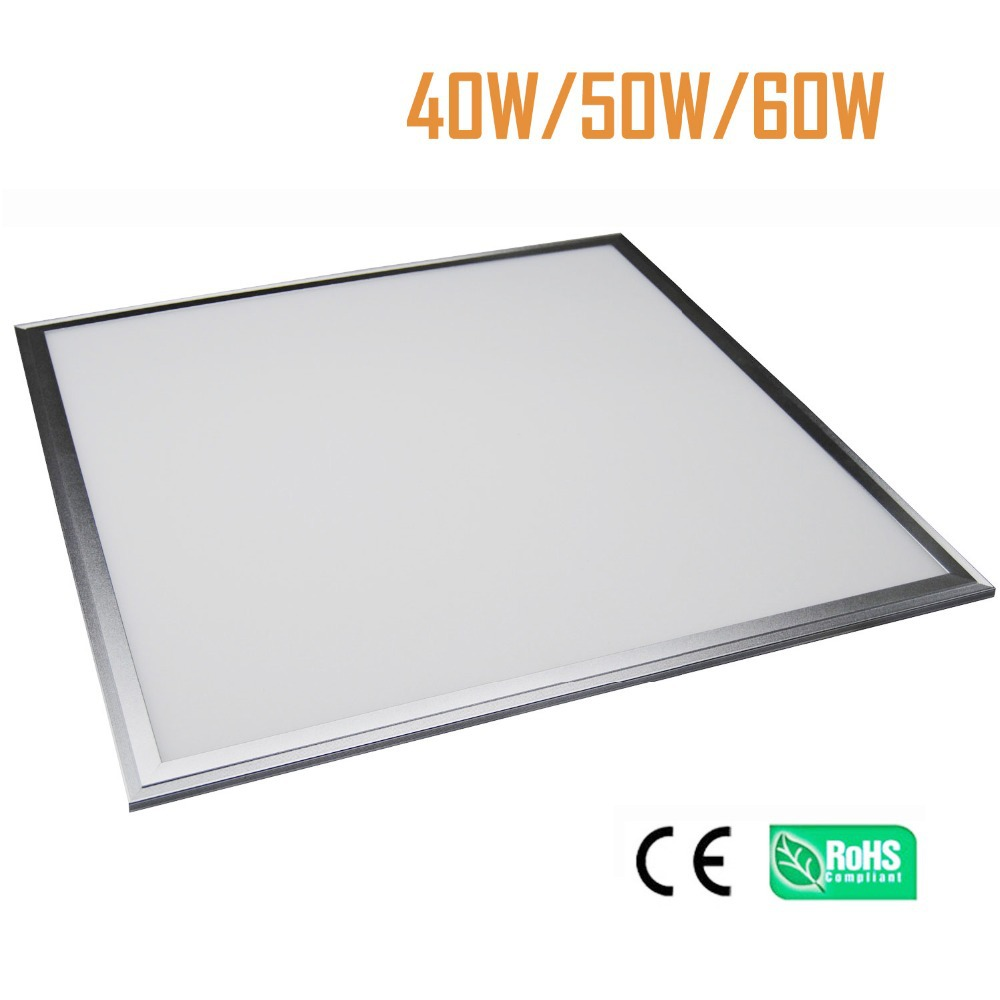 LED Panel Light 600x600mm LED Ceiling Down light 40W 3400LM SMD2835 192pcs Aluminum flat light with driver free shipping FEDEX free shipping waterproof ip65 led panel 600x600mm high bright led chips with led driver ww nw cw color temperature aluminum pmma