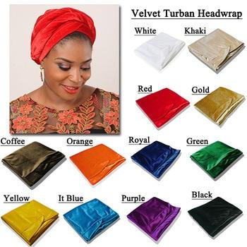 Velvet Turban Headwrap scarf 17 COLOR