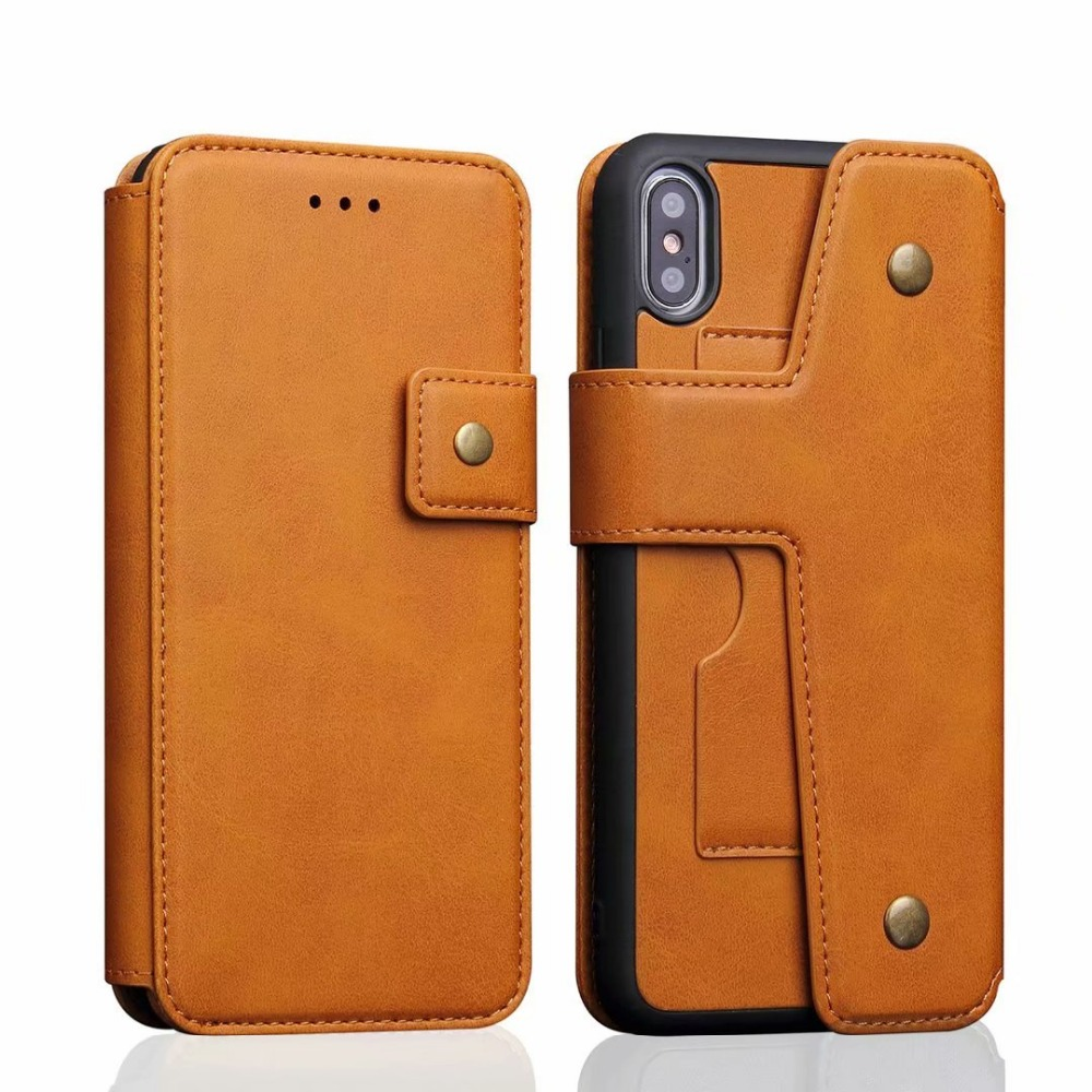 For iPhone XS Max Cover UYFRATE Retro Leather Detachable Card Slots Wallet Case For iPhone XS Max XR XS X 8 8 Plus 7 6S 6 Plus