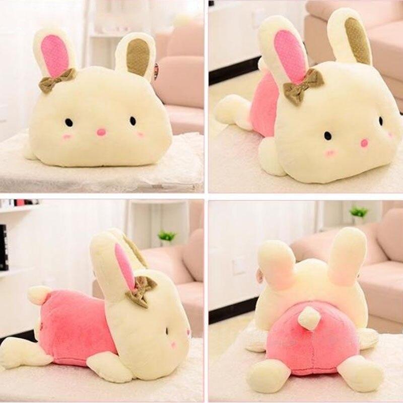 Lovely bow rabbit christmas pillow plush doll decorative - Cojines decorativos para sofas ...