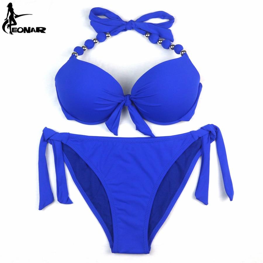 EONAR Bikinis Women 2018 Print Floral Swimsuits Brazilian Push Up Halter Bikini Set Bathing Suits Plus Size Swimwear Female XXL 5