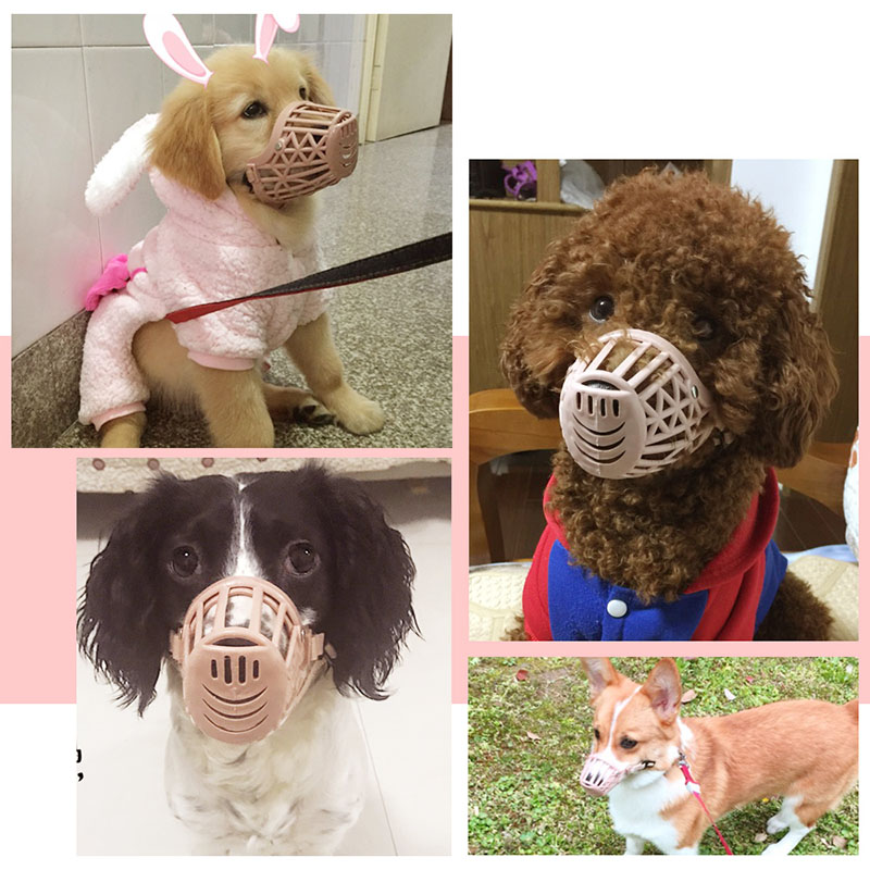 PET Dog Muzzle Collar Plastic Strong Dog Accessories Prevent Bite Dog Mouth Mask Anti biting Adjusting Straps Mask 1 7 Sizes in Dog Carriers from Home Garden
