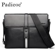 Padieoe Luxury Men Bag Genuine Leather Male Crossbody Shoulder Messenger Bags Business Men Satchel Laptop Bag