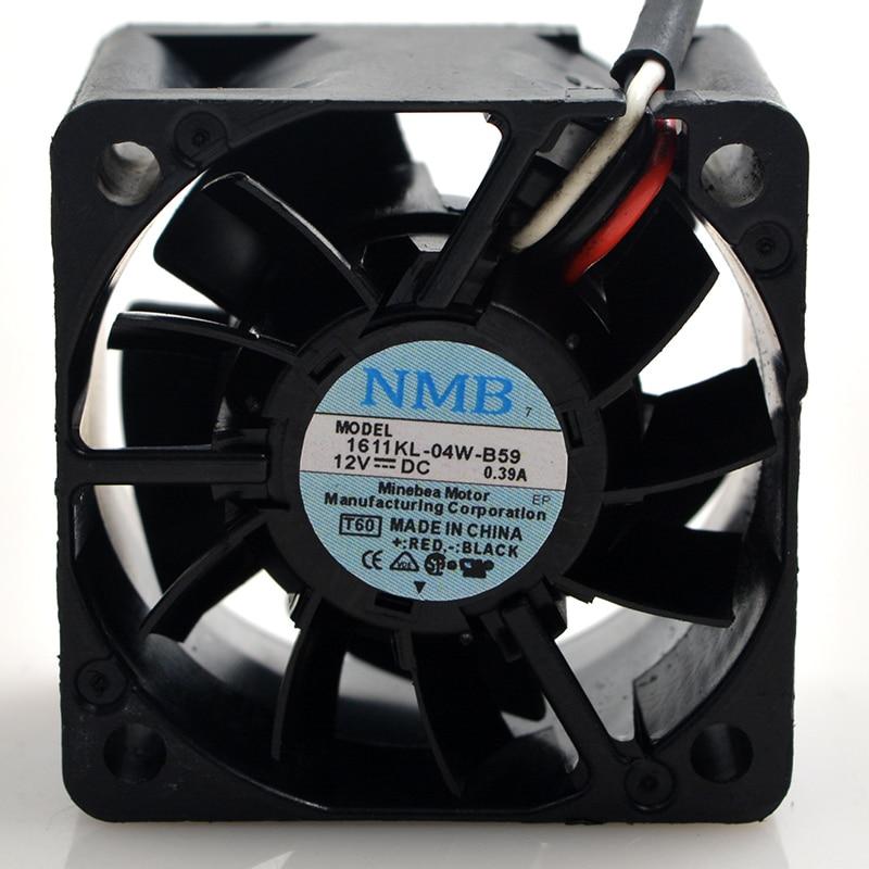 NMB 1611KL-04W-B59 4cm 40mm fan 4028 12V 0.39A Double ball bearing air volume server cooling fanNMB 1611KL-04W-B59 4cm 40mm fan 4028 12V 0.39A Double ball bearing air volume server cooling fan