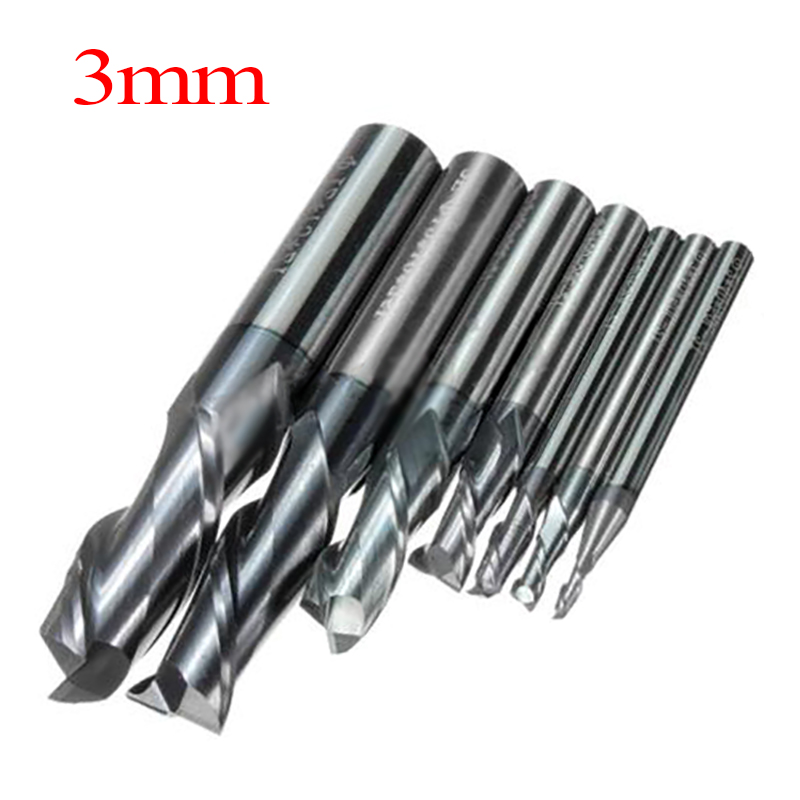 1pc Tungsten Coating 2Flute End Mill Woodworking Milling Cutter 2/3/4/6mm For Power Tools weitol 5a 1 pc  3 175 4 6mm tungsten