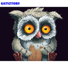 GATYZTORY Frame Abstract Owl DIY Painting By Number Animals Handpainted Oil Painting Modern Wall Art Picture For Home Decors(China)
