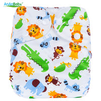 Ananbaby Cloth Diaper Baby Waterproof Reusable Diapers Infant Baby Nappy Cover Couches Lavables Adjustable Cotton Diapers