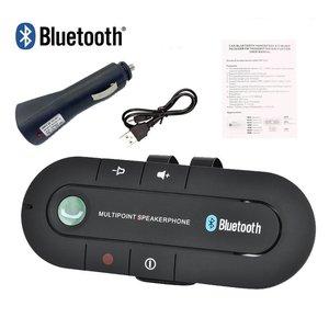 Image 2 - USB Bluetoothแฮนด์ฟรีรถชุดลำโพงไร้สายบลูทูธโทรศัพท์MP3เครื่องเล่นเพลงSun Visorคลิปสปีกเกอร์โฟนChargerไม่มีAux