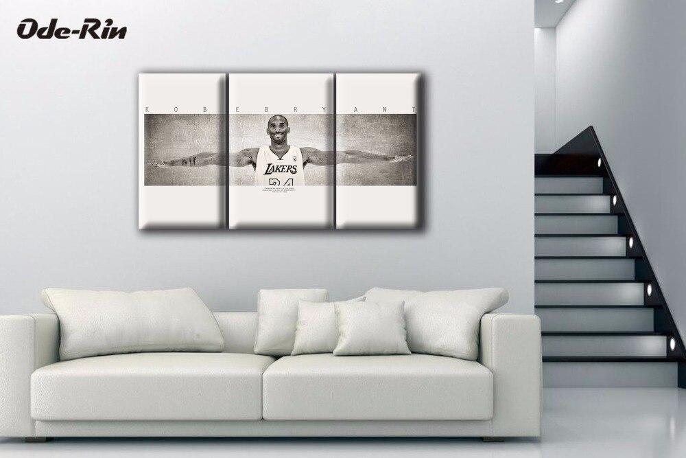 웃 유Ode-rin decoración personalizada no marco pared Art Kobe Bryant ...