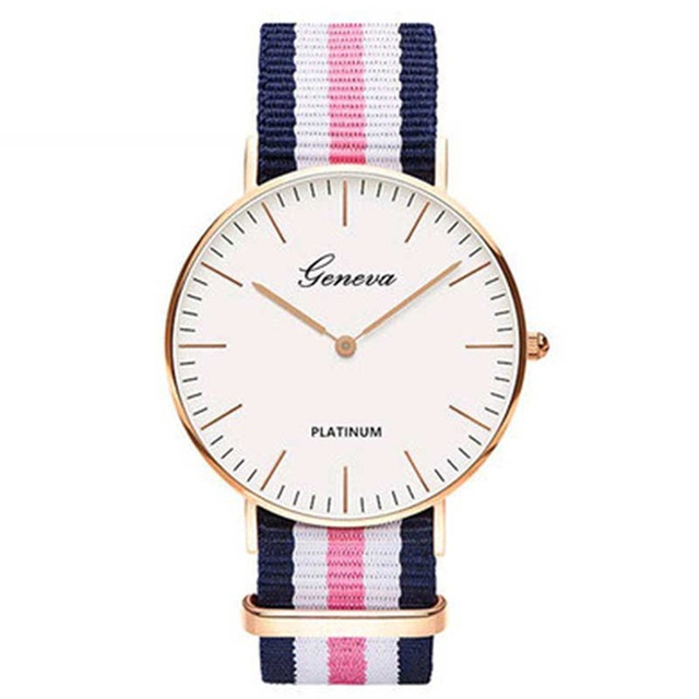 Trend Brand Women Watches Ultra Thin Canvas Band Quartz Watch Fashion Female Wri