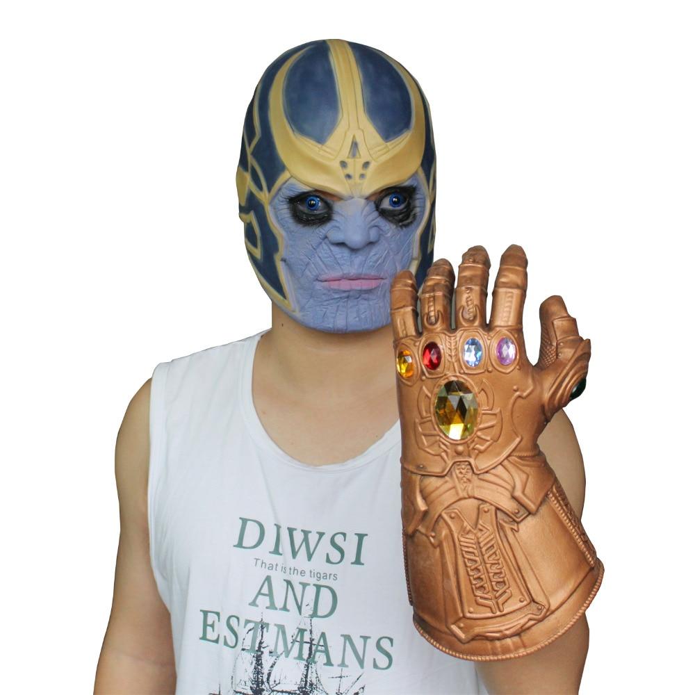 Thanos Infinity Gauntlet Kids Toys Christmas Gift Infinity War Gloves Cosplay Superhero Thanos Glove Boys Halloween Party Props