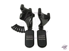 Motorcycle Rear Streamliner Foot pegs Footrests Mount Brackets case for Harley Sportster 883 1200 XL 2014 2015 2016 2017